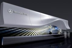 Auto Show on Behance Parametric Architecture, Parametric Design, Futuristic Architecture, Facade Architecture, Facade Design, Exterior Design, Exhibition Booth Design, Exhibition Ideas, Exhibition Stands