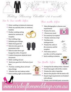 Wedding planner checklist 6 months – Wedding celebration blog