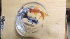 Cute Painting of Fishes in a Bowl