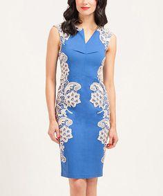 Another great find on #zulily! Blue & Cream Amber Dress #zulilyfinds
