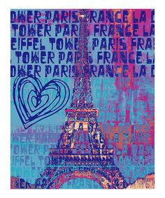 Purple Heart in Paris Wall Art   Daily deals for moms, babies and kids