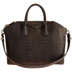 Givenchy Croc-Stamped Medium Antigona Duffel