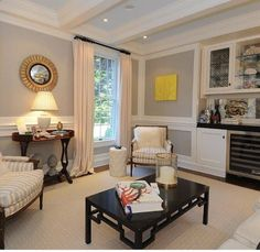 Benjamin Moore Revere Pewter | The Zhush Best Interior Paint, Interior Paint Colors, Home Interior, Interior Design, Revere Pewter Benjamin Moore, Amazing Spaces, City Living, Living Room Decor, Living Rooms