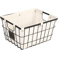 Better Homes and Gardens Small Wire Basket with Chalkboard, Black - check to see if size will fit in closet on shelves for clothing storage - $7.00