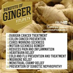 Natural plant based diet: Top 10 health benefits of ginger Health And Nutrition, Health And Wellness, Health Tips, Treatment For Ovarian Cancer, Health Benefits Of Ginger, Flu Prevention, Natural Kitchen, Heartburn, Yoga