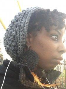 Free  puff stitch crochet hat pattern