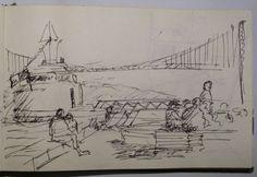 2014 - ao fundo a ponte - Lisboa