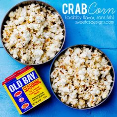 Popcorn seasoned with Old Bay, Butter and a special twist make this incredibly addictive and a summer snack you cant get enough of. Tastes like a crab boil!