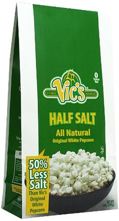 Vics Half Salt White Popcorn 6ounce Pack Of 12 You Can Get More