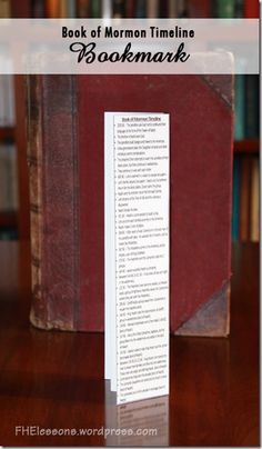 Four different printable versions of the timeline of events from the Book of Mormon - one just the right size to fit into the front of a Book of Mormon, 2 bookmarks, and a Word doc. Also links to summaries of the stories! Awesome!
