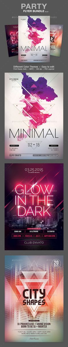 Party Flyer Bundle Template