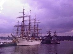 """July 4, 1976 : The American Bi-Centennial Celebration : NYC : Japan's """"Nippon Maru"""". ~~ I was there. The TALL SHIPS were a primary event of that weekend. ♥ ~~ Click on the link to access my full collection of Bi-Centennial pics on my Facebook page AND to read a bit about this once-in-my-lifetime occasion. Please """"Follow"""" or """"Friend"""" me on Facebook. Please """"Follow"""" me here on Pinterest, also. ♥"""