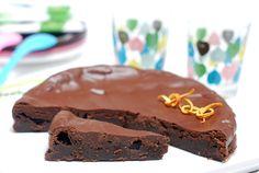 Tarta de chocolate fondant para fiestas