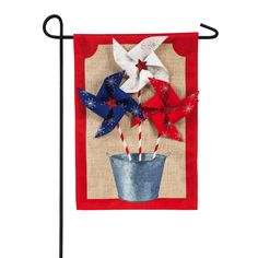 Burlap Garden Flags, Burlap Flag, Burlap Fabric, All Flags, Garden Stand, Evergreen Flags, Outdoor Flags, Flag Decor, Galvanized Metal