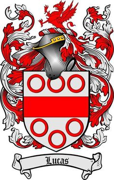 LUCAS FAMILY CREST - COAT OF ARMS gifts at www.4crests.com