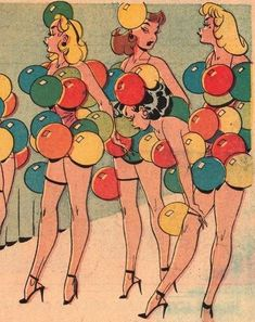 https://oldtimeerotica.tumblr.com/ balloon girls burlesque retro vintage comic book pop art