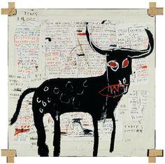 Jean-Michel Basquiat, Beef Ribs Longhorn, 1982.