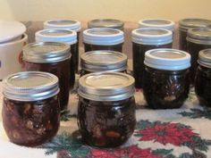 Plum Jam with Walnuts and Rum - Small Batch, Low Sugar Plum Jam Recipes, Ice Cream Toppings, Edible Gifts, Preserving Food, Nut Butter, Low Sugar, Cooking Time, Rum, Mason Jars