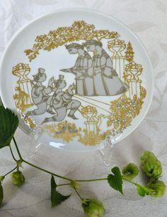 Mid Century Bjorn Wiinblad Serenade plate designed for