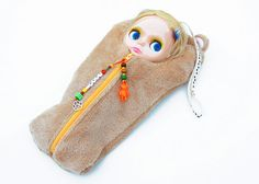 "The Original Blythe Sleepsack from PINKKIS: ""Nux"" the Bear Carrier for Blythe Dolls"