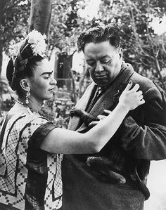 Credit: Wallace Marly/Getty Images  Frida Kahlo and Diego Rivera
