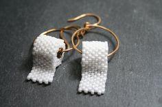 Beaded Toilet Paper Earrings