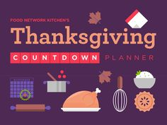 Host a stress-free Thanksgiving by starting your prep ahead of time; find out what you can do two weeks ahead of time, right up until the day of the big meal, with Food Network.