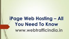 iPage Web Hosting - All You Need To Know. Read our Ultimate Guide to know why should you pick iPage as your hosting partner. Cheap Web Hosting, Affiliate Marketing, Need To Know, Reading, Reading Books