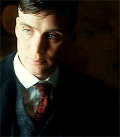 Cillian Murphy playing Tommy Shelby in Peaky Blinders