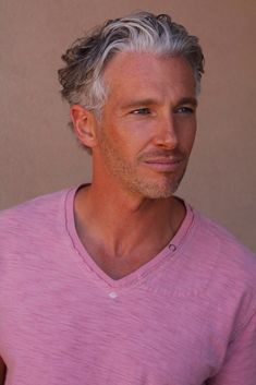 Handsome Young Gray Haired Man