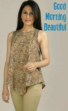 Get the ultimate guide on how to create your own designer saree blouses, with all the tops you have in your closet. Get the latest on saree drapes and new styles. Short Kurti Designs, Simple Kurta Designs, Cotton Dresses Online, Indie Mode, Pakistani Fashion Casual, Fancy Tops, Short Tops, Up Girl, Trendy Dresses