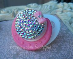 Baby Bling Pacifier Rhinestone Pacifier Bling Binky by BeccaRooni, $18.00