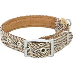 Earthbound Tweed Beige Dog Collar From £17.99