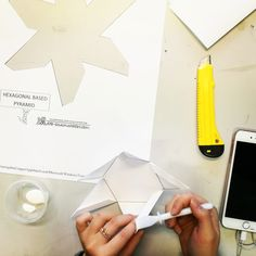 Making a Hexagonal shape out of paper, and animating it in Product Design, Students, Container, Public, College, Animation, Shapes, Building, Cards