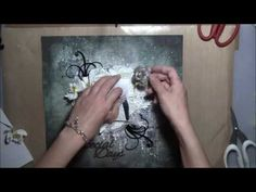 ''Special Days'' - Mixed Media Layout Tutorial for 2Crafty chipboard - YouTube