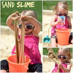 DIY SAND SLIME PLAY RECIPE