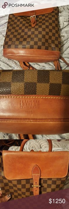 LV Checkered Damier Backpack In Great condition. Looking to sell or trade. Louis Vuitton Bags Backpacks