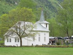 Dal Kirke in Tinn, Telemark. This is the church where the Bakkens (on Dad's side) were from. Doug & I found this church just by accident--what a fun find!