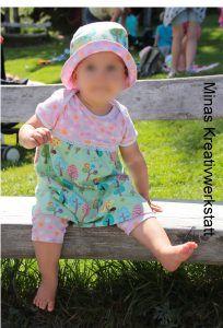 Kinderkleid/Klimperklein Beinschmeicheleien/rosarosa Sommerhut Noel/dreiems