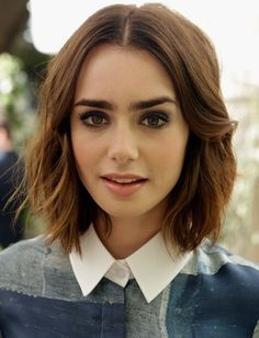 The Secret to Lily Collins' Textured Bob