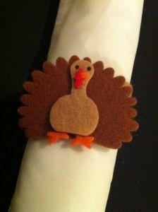 Felt turkey napkin ring