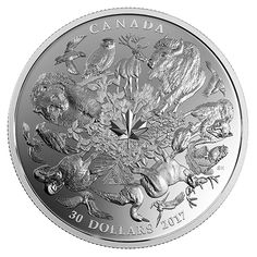 2 oz. Pure Silver Coin - Flora and Fauna of Canada - Mintage: 4,000 (2017)