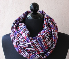 Multicolored Shapes Scarf by Three HeartZ