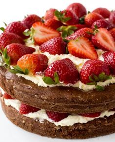 Hi guys! It's Kelley back from Chef Savvy! Today I am sharing with you this Brownie Strawberry Shortcake! Who doesn't love strawberry shortc. Strawberry Shortcake Recipes, Strawberry Desserts, Köstliche Desserts, Dessert Recipes, Brownie Desserts, French Desserts, Alcoholic Desserts, Portuguese Desserts, Birthday Cakes