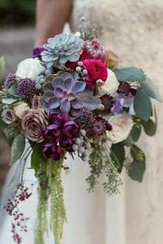 Berry arrangements give this fall bouquet beautiful texture.