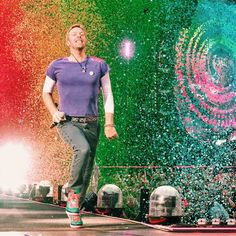 Coldplay Cardiff is go for the second night! Chris Martin, AHFOD Tour, 12 July 2017.
