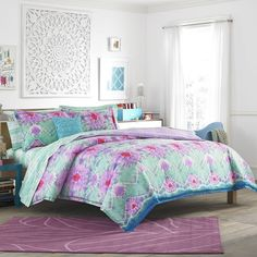 Features:  -Twin set includes comforter and 1 sham.  -Reversible.  -Material…