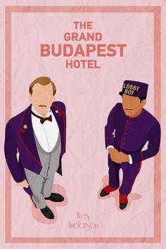 The Grand Budapest Hotel #ilistration #poster #mrgustave #zero #lobbyboy #thegrandbudapesthotel
