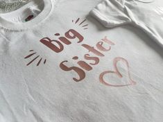 Big Sister Little Sister, Little Sisters, Personalized T Shirts, Tshirt Colors, My Etsy Shop, Stuff To Buy, Shopping, Check, Custom Tees