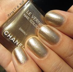 Chanel Diwali - The exact dupe for this is  Wet n Wild Fergie Gold Album nail polish. The Chanel is limited edition and from the Bombay collection. It runs around 30 dollars plus tax. The Fergie polish is around 4 bucks.